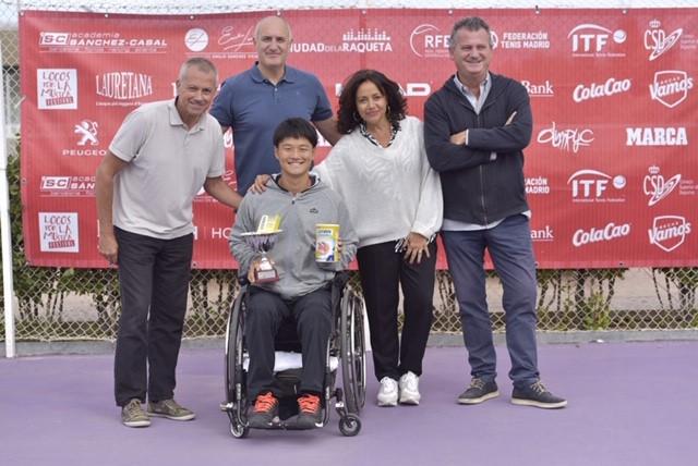 Image for El japonés Takuya Miki y la china Hui Min Huang ganadores del VIII Torneo ITF Wheelchair Fundación Emilio Sánchez Vicario en La Ciudad de la Raqueta (Madrid).